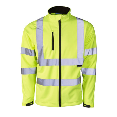Supertouch Hi Vis Yellow Softshell Jacket