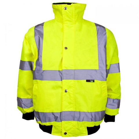 Supertouch Hi Vis Yellow Junior Bomber Jacket