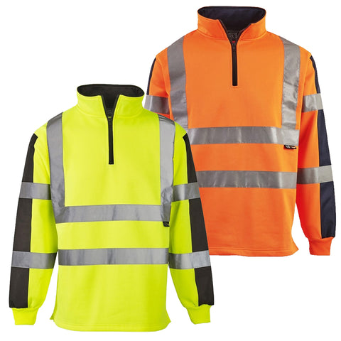 Supertouch Hi Vis 2 Tone Rugby Shirt