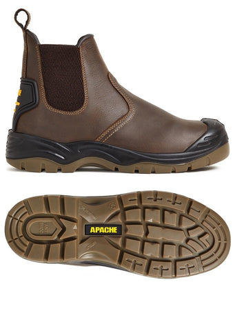 Apache AP715S Safety Boot Brown
