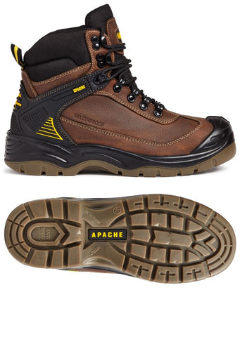 Apache RANGER Safety Boot Brown