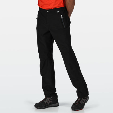 Regatta Mens Highton Waterproof Breathable Trousers Black