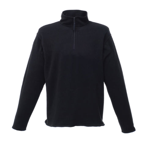 Regatta Mens Micro Zip Neck Fleece Black