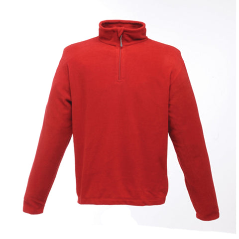 Regatta Mens Micro Zip Neck Fleece Red