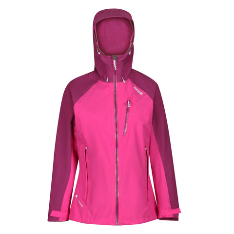 Regatta Ladies Birchdale Waterproof Breathable Jacket Vivid Viola