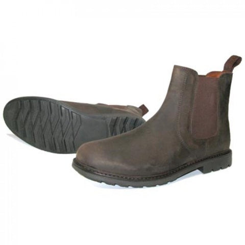 Oaktrak Fergus Leather Dealer Boot-BROWN