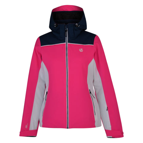 Dare2b Ladies Waterproof Insulated Validate Ski Jacket-CYBER PINK