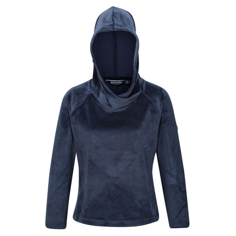 Regatta Ladies Kelilah Velour Fleece Hoody-NAVY