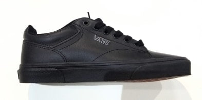 Vans Mens Seldan Leather Tumble Shoe Black