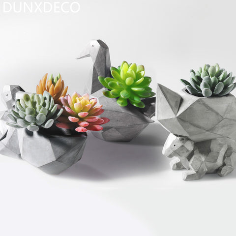 DUNXDECO Modern Grey Geometric Space Art