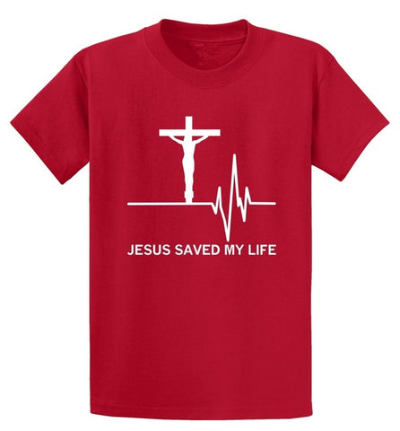 Jesus Saved My Life T-Shirt (20% of proceeds will be donated to Samaritans Purse)