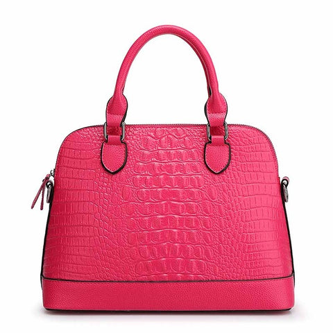 Faux Alligator Top-Handle bag