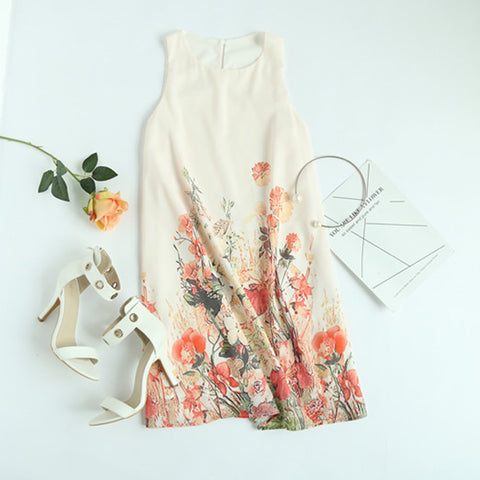 Flower Print Boho Dresses New Arrival
