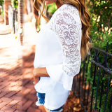 New 2018 White Lace Blouse