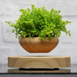 ABS Magnetic Levitating Plant Pot Grain Round LED Levitating