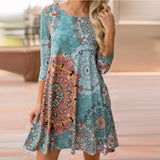 Casey BOHO Mid Sleeve Casual Dress With Pockets