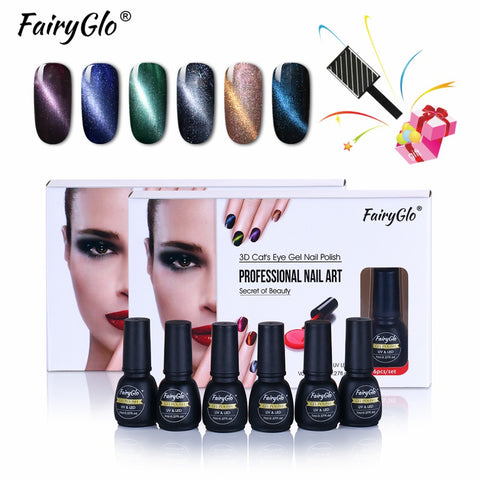 Fairy Glo 6pc Metallic Gel Polish