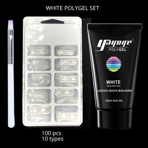 PROGEL Poly Gel White Starter Kit