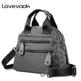 LOVEVOOK Women Nylon Waterproof Travel Casual Shoulder Bag