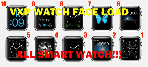 Smart Watch Faces ( 64 Piece Face ) Files + Support For Watch Face Loading