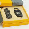 COHIBA Metal Cigar Lighter And Cutter Set