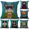 Cartoon Cat Pillow Cover - gohobbyworld