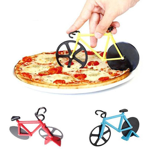 Bicycle Design Stainless Steel Pizza Cutter