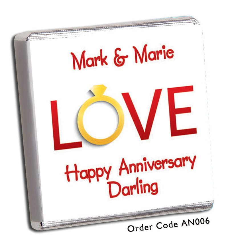 'LOVE' Anniversary Favours - Chunky Monkey Chocolate