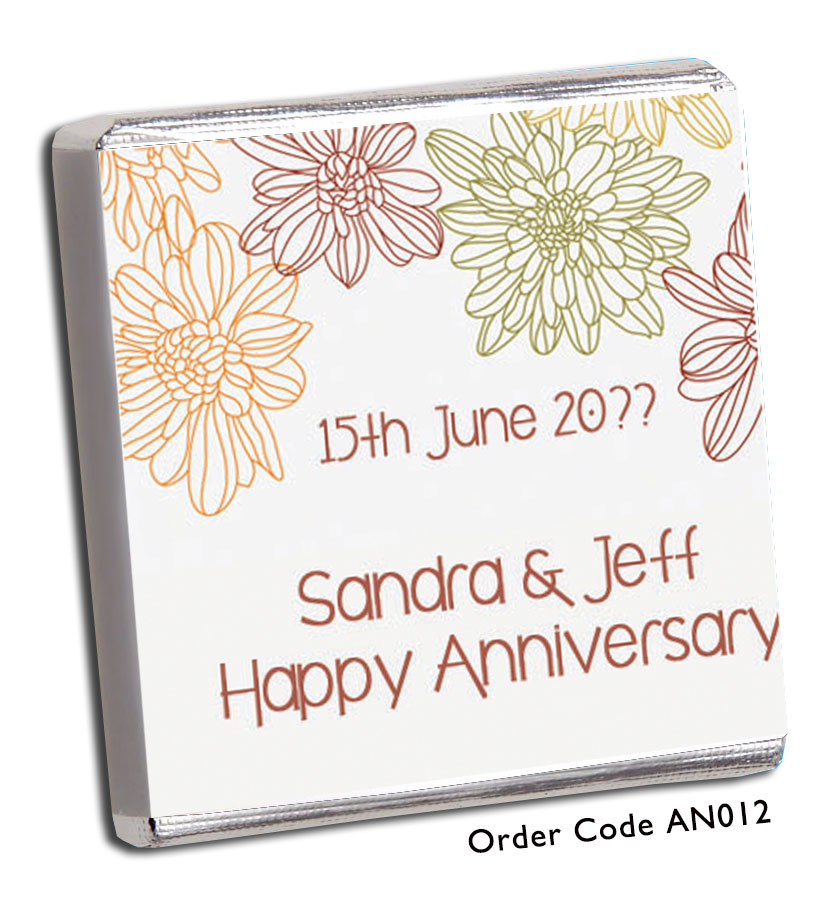 Flower Anniversary Favour - Chunky Monkey Chocolate