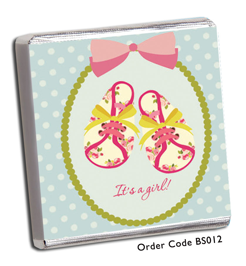 'Baby Shoe' Baby Shower Chocolates - Chunky Monkey Chocolate