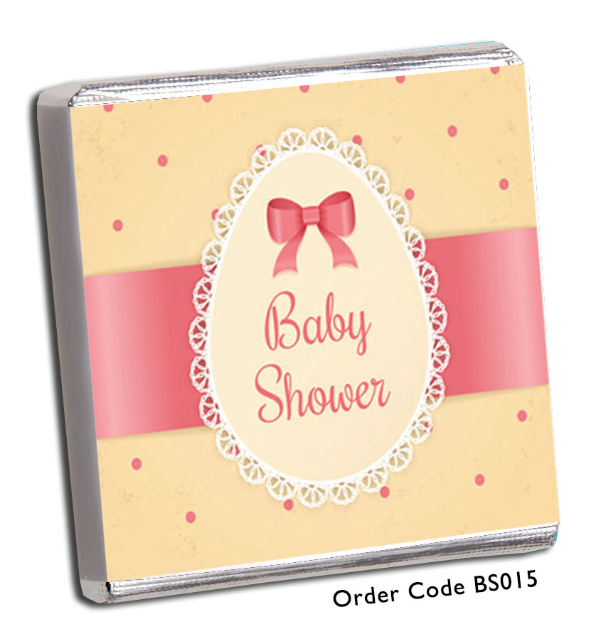 Bow Style Baby Shower Chocolates - Chunky Monkey Chocolate