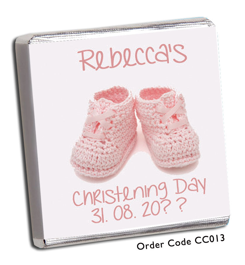 Baby Bootie Christening Favours Pink - Chunky Monkey Chocolate