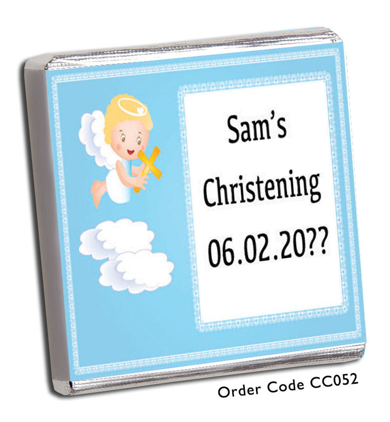 Angel Christening Favours - Chunky Monkey Chocolate