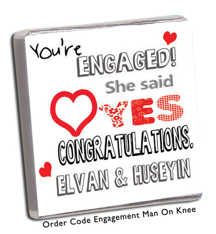 'She Said Yes' Engagement Party Favours - Chunky Monkey Chocolate