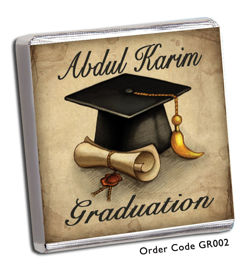 Retro Graduation Day Celebration Favours - Chunky Monkey Chocolate