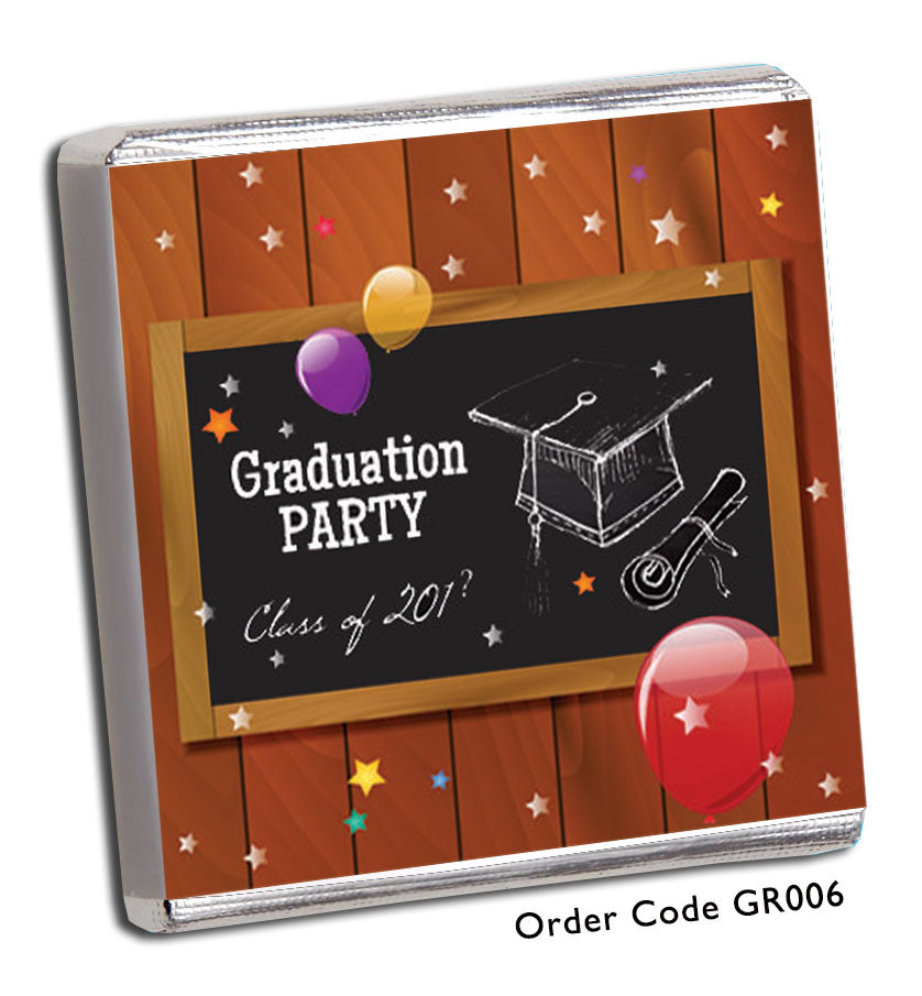 Fun Graduation Day Celebration Chocolates - Chunky Monkey Chocolate