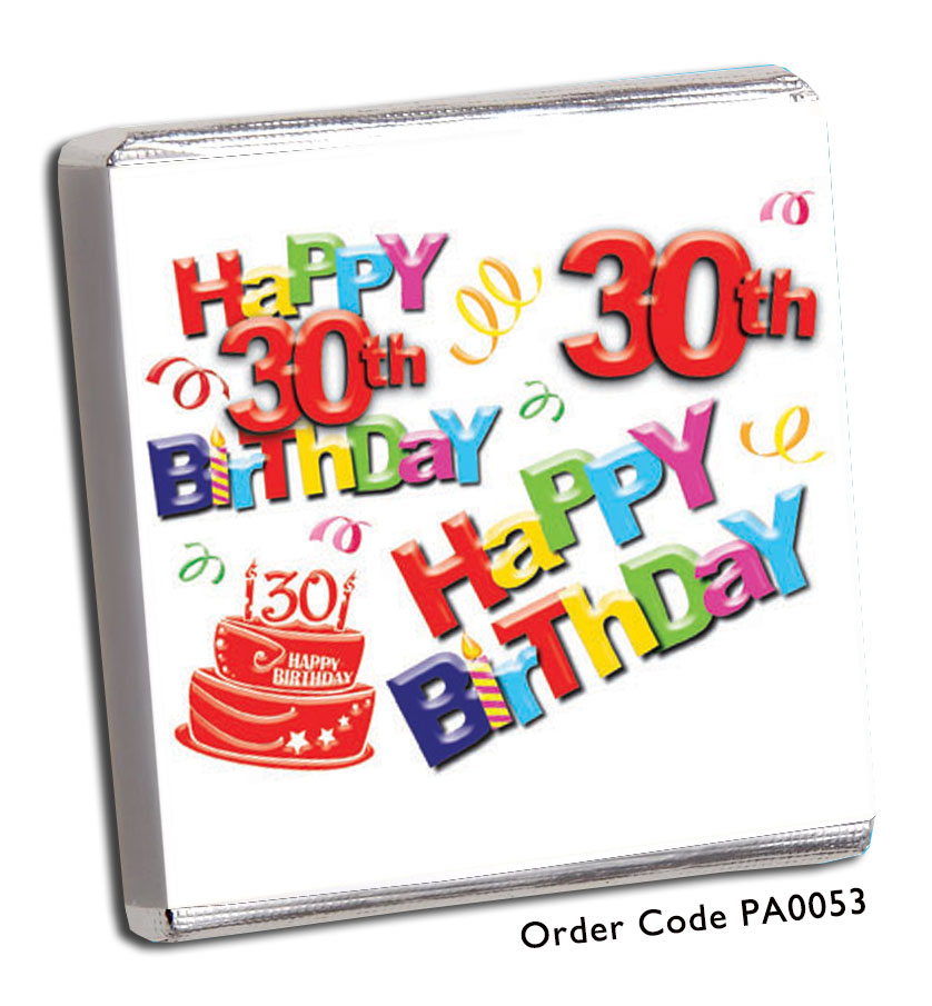 30th Birthday Party Favours