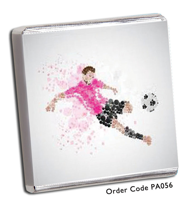 Footballer Mosaic Birthday Chocolates - Chunky Monkey Chocolate