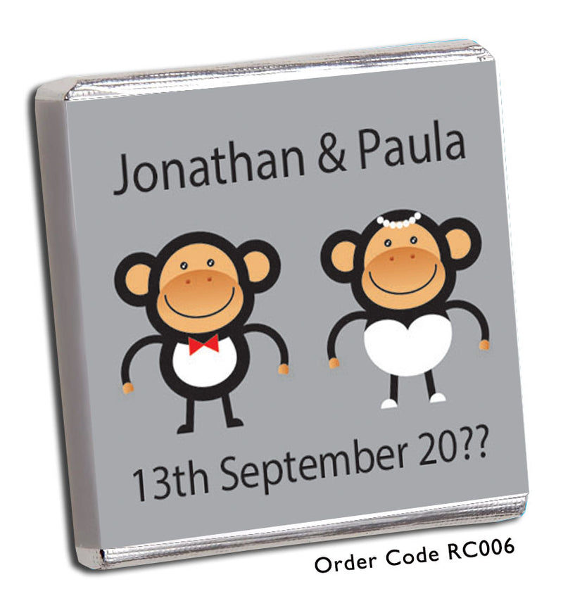 Cheeky Monkey Wedding Favours - Chunky Monkey Chocolate