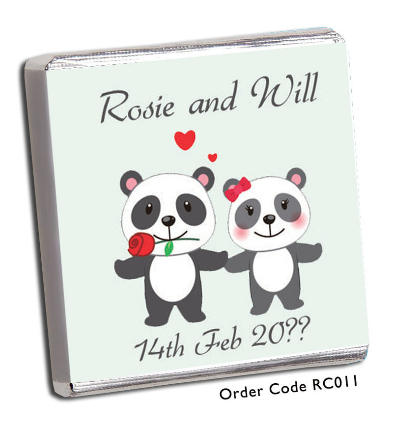 Panda Wedding Favours - Chunky Monkey Chocolate