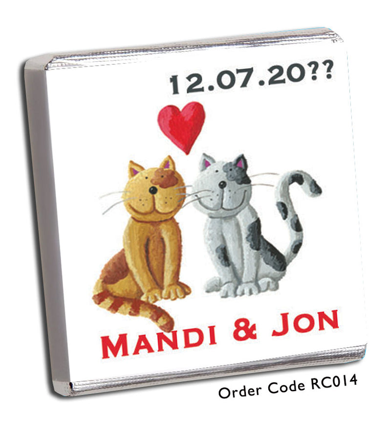 Cat Wedding Favours - Chunky Monkey Chocolate