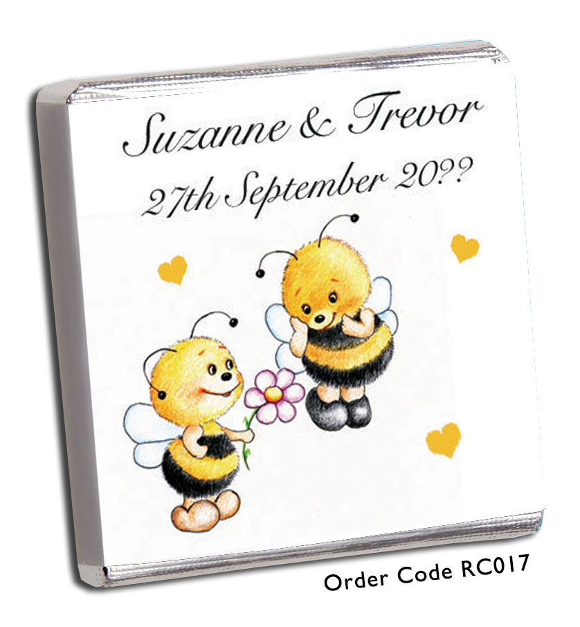 Bumble Bee Wedding Favours - Chunky Monkey Chocolate