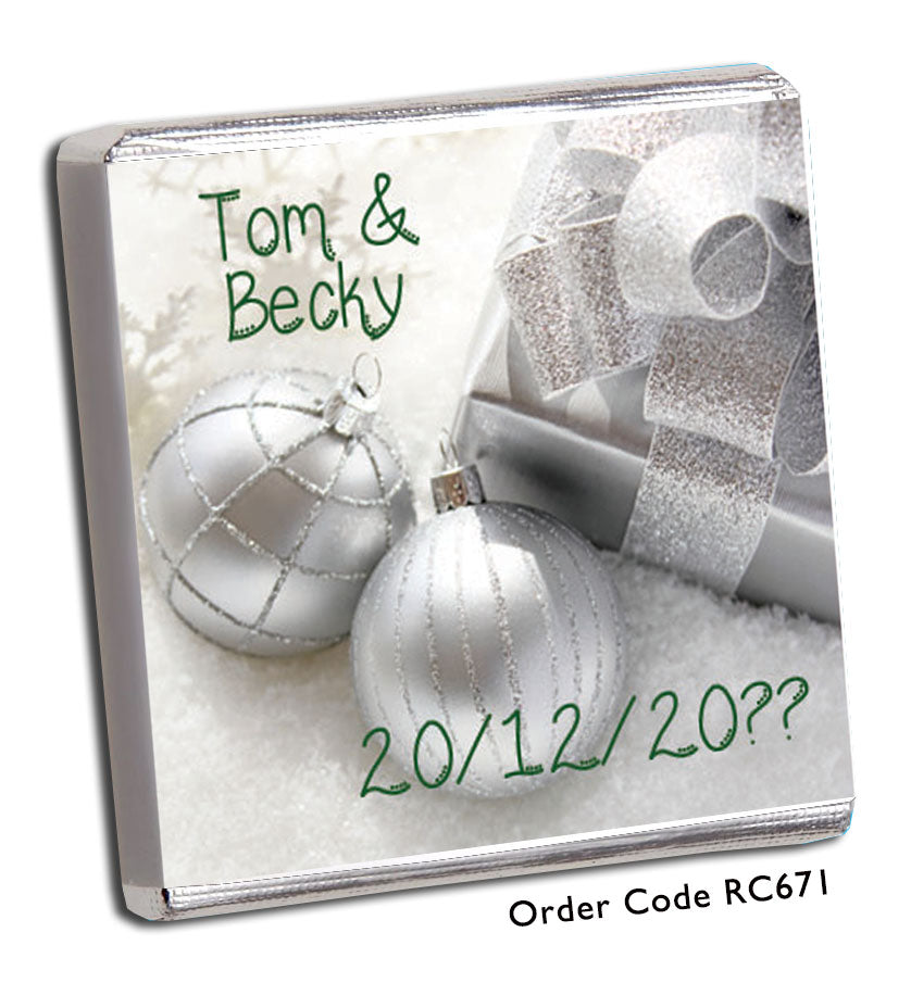 Festive Baubles Wedding Favours - Chunky Monkey Chocolate