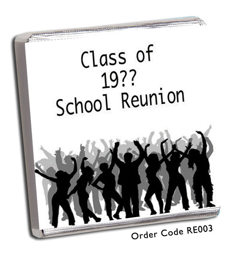 Disco Themed School Reunion Favours - Chunky Monkey Chocolate