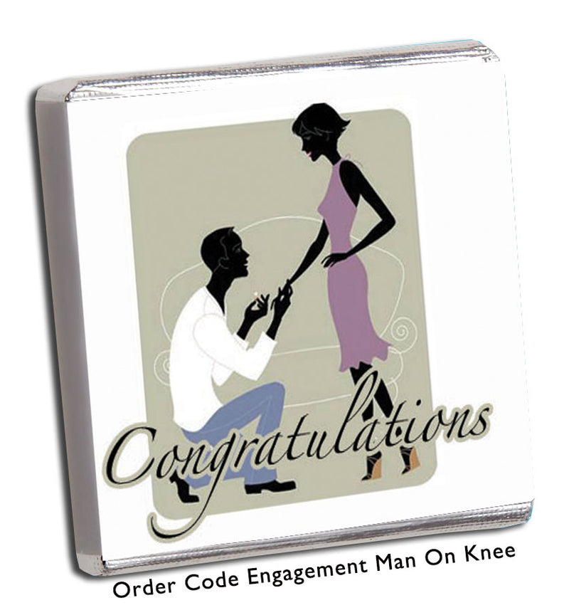 'Congratulations' Engagement Chocolates - Chunky Monkey Chocolate
