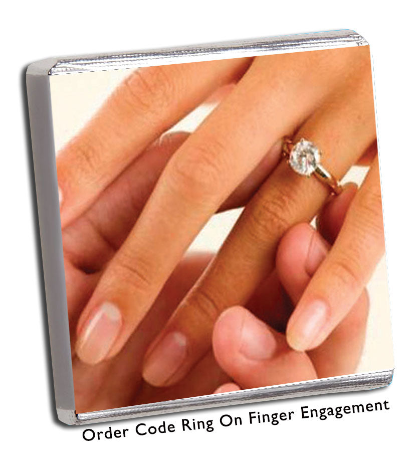 Ring on Finger Engagement Favour - Chunky Monkey Chocolate