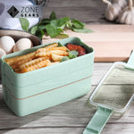 KidoBox™ Healthy 3-Layer Wheat Straw Bento Lunch Box