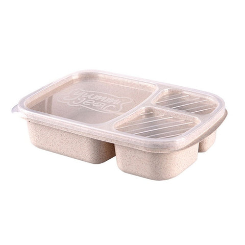 Student Box - Lunch Box Wheat Straw Microwave Tableware