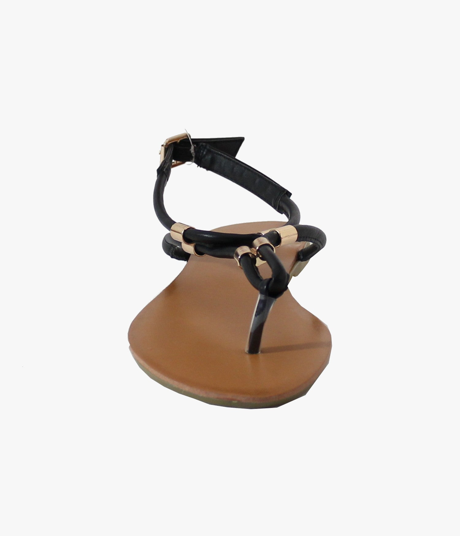 Sandale Plate Style Cuir - Femme