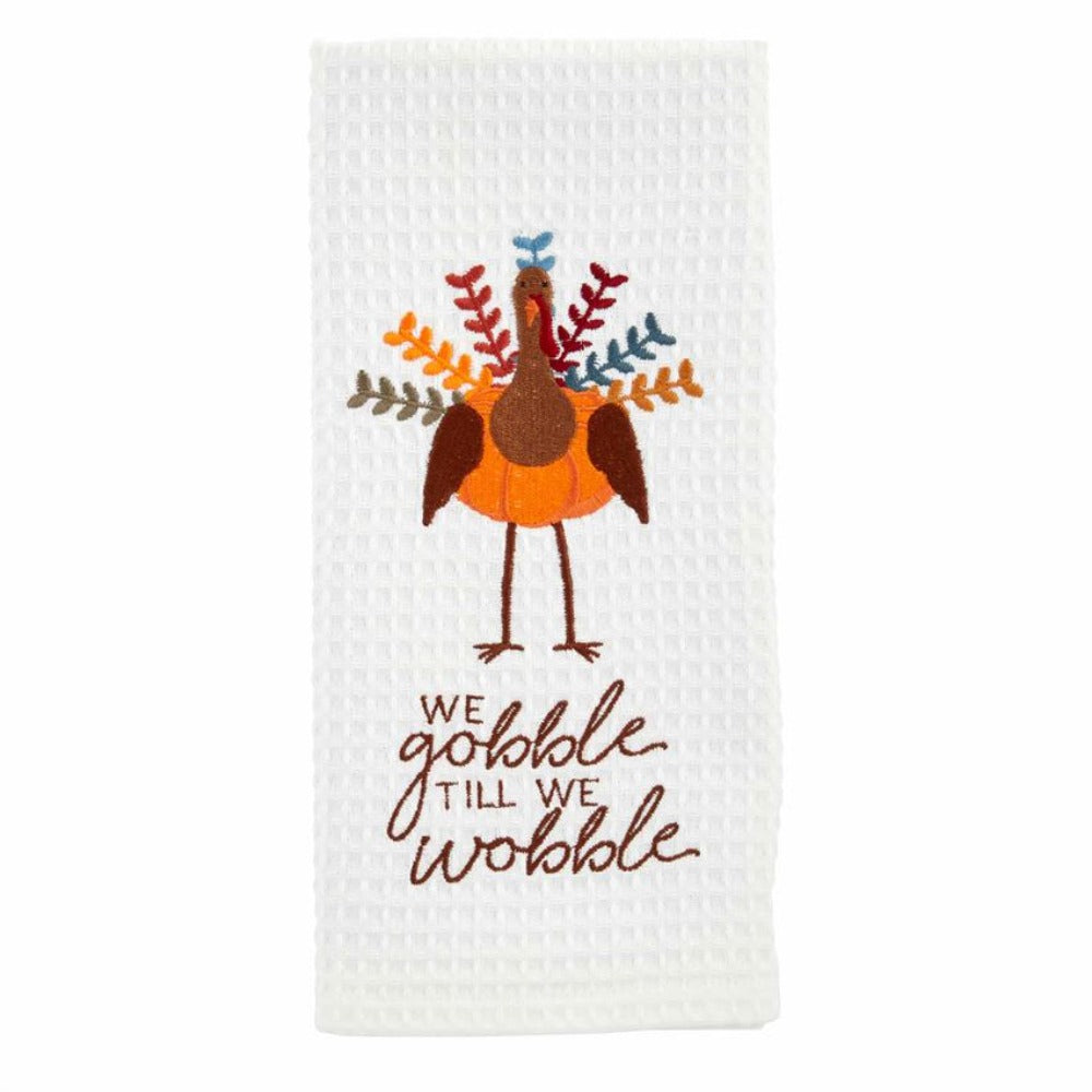 Gobble Til You Wobble Waffle Towel